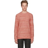 A.P.C. Red And White Max Sweatshirt