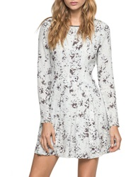 Andrew Marc New York Abstract Print Mini Dress Burred White