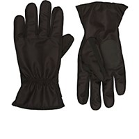 Barneys New York Men's Fleece Lined Nylon Sport Gloves Black