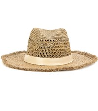 Hat Attack Continental Raffia Hat Brown