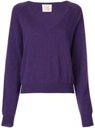 A Shirt Thing V Neck Jumper Purple