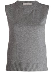 D.Exterior Knitted Vest Top Grey