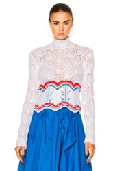 Peter Pilotto Lace Knit Jumper In White
