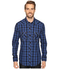Rock And Roll Cowboy Long Sleeve Snap B2s8425 Blue Men's Clothing