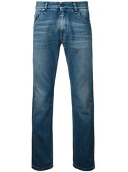 Fendi Illustrate Slim Fit Jeans Blue