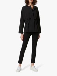French Connection Crepe Waist Blouse Black