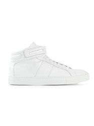 National Standard Hi Top Lace Up Sneakers White