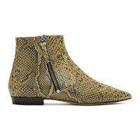 Isabel Marant Beige And Black Dawie Boots