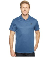 The North Face Short Sleeve Crag Polo Shady Blue Heather Men's Short Sleeve Knit