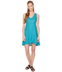 Fig Clothing Axa Dress Obsidian Turquoise Blue