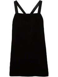 Vera Wang Cross Strap Back Velvet Top
