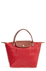 Longchamp 'Mini Le Pliage' Handbag Red Burnt Red