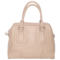 Chesca Large Leather Bowling Bag Natural