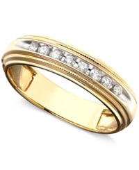 Macy's Men's Diamond Ring In Two Tone 14K Gold 1 5 Ct. T.W.