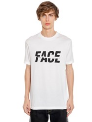 Facetasm Face Printed Cotton Jersey T Shirt White
