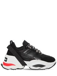 Dsquared 70Mm The Giant K2 Mesh And Suede Sneakers Black