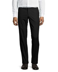 Dolce And Gabbana Flat Front Cotton Pants Black