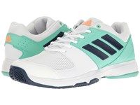 Adidas Barricade Court Footwear White Mystery Blue Easy Green Women's Tennis Shoes