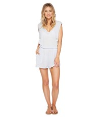 Lucky Brand Solid Attitude Hooded Romper Cover Up With Side Pockets Mist Jumpsuit And Rompers One Piece Blue