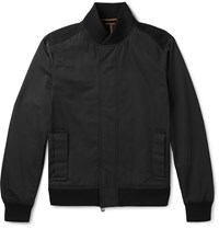 Berluti Nubuck Trimmed Tech Shell Bomber Jacket Black