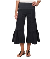 Xcvi Cropped Side Tier Palazzo Charcoal Women's Casual Pants Gray