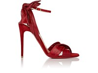 Christian Louboutin Women's Marylineska Eelskin And Suede Ankle Strap Sandals Red Berry Red Berry