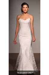 Anna Maier Couture Women's Lea Strapless Lace Trumpet Gown