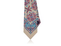 Ralph Lauren Purple Label Men's Floral Print Silk Necktie Tan