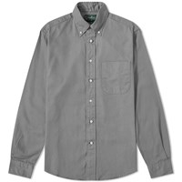 Gitman Brothers Vintage Button Down Overdyed Oxford Shirt Grey