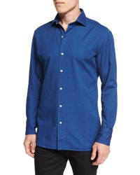 Tom Ford Long Sleeve Lightweight Denim Shirt