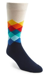 Happy Socks Men's Faded Diamond