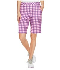 Puma Pattern Bermuda Shorts Royal Purple Women's Shorts