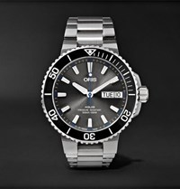 Oris Aquis Hammerhead Limited Edition Automatic 45.5Mm Stainless Steel Watch Silver