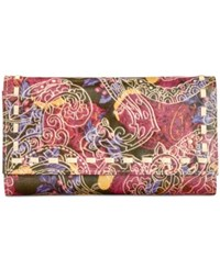 Patricia Nash Metallic Tooled Lace Terresa Wallet Metallic Paisley