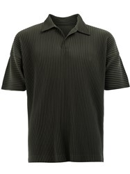 Homme Plisse Issey Miyake Pleated Polo Shirt Green