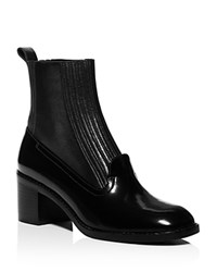 Opening Ceremony Pull On Loafer Booties Black
