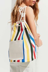 Urban Outfitters Striped Canvas Backpack Multi