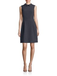 Peserico Embellished Collared Dress Charcoal