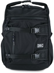 As2ov Triple Buckle Backpack Men Nylon One Size Black