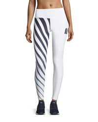 Chrldr Striped Fit Legging White