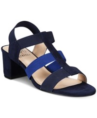 Impo Emery Stretch Block Heel Sandals Women's Shoes Blue Multi