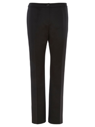 Viyella Petite Straight Leg Trousers Black