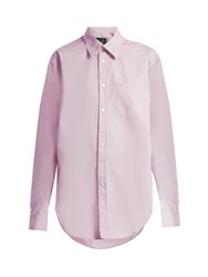 Martine Rose Oversized Cotton Shirt Pink