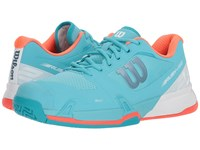 Wilson Rush Pro 2.5 Blue Curacao White Fiery Coral Tennis Shoes
