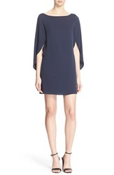 Women's Milly Butterfly Sleeve Stretch Silk Crepe Dress Navy