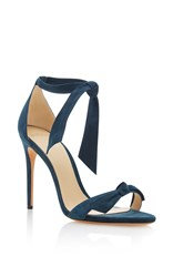 Alexandre Birman Clarita Suede Sandals Light Blue