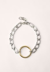 Missguided Metallic Statement Chain Circle Choker Multi