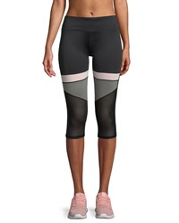 Marc New York Colorblocked Cropped Compression Leggings Black