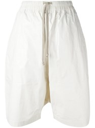 Rick Owens Drkshdw Knee Length Shorts White