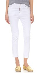 Dsquared Cool Girl Cropped Jeans White